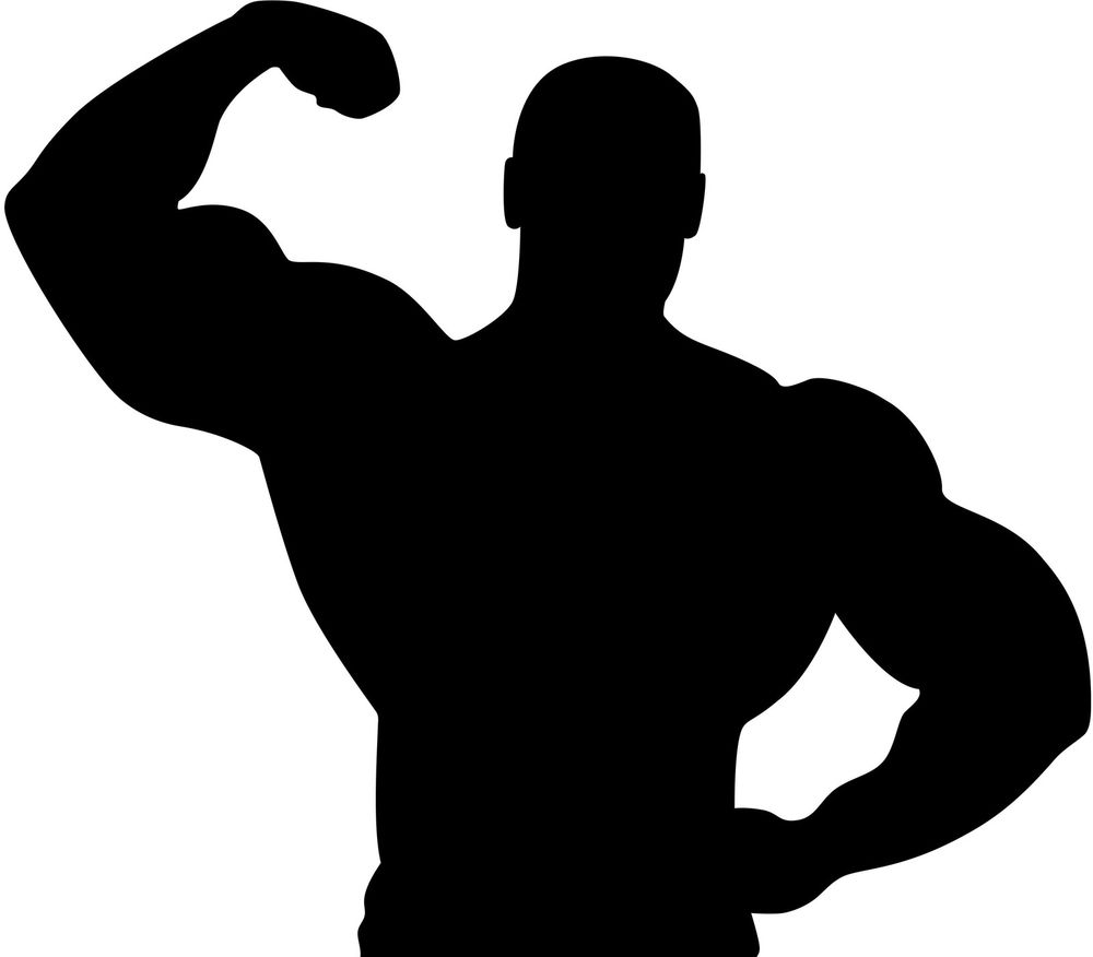 Black muscular guy clipart graphic royalty free download Free Muscular Man Silhouette, Download Free Clip Art, Free Clip Art ... graphic royalty free download