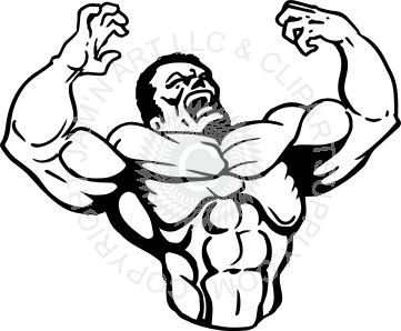 Black muscular guy clipart svg free Muscle Man Clipart | Free download best Muscle Man Clipart on ... svg free