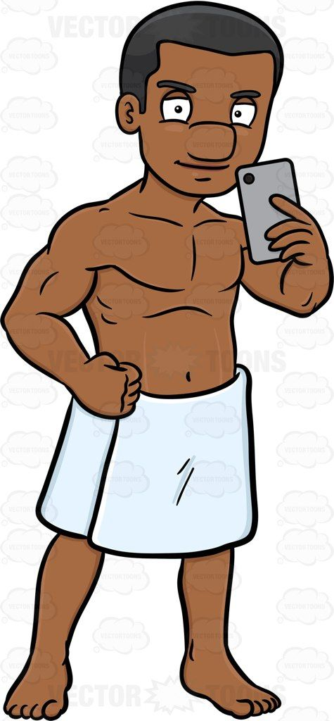 Black muscular guy clipart picture freeuse stock A black guy confidently takes a photo of himself to brag about his ... picture freeuse stock