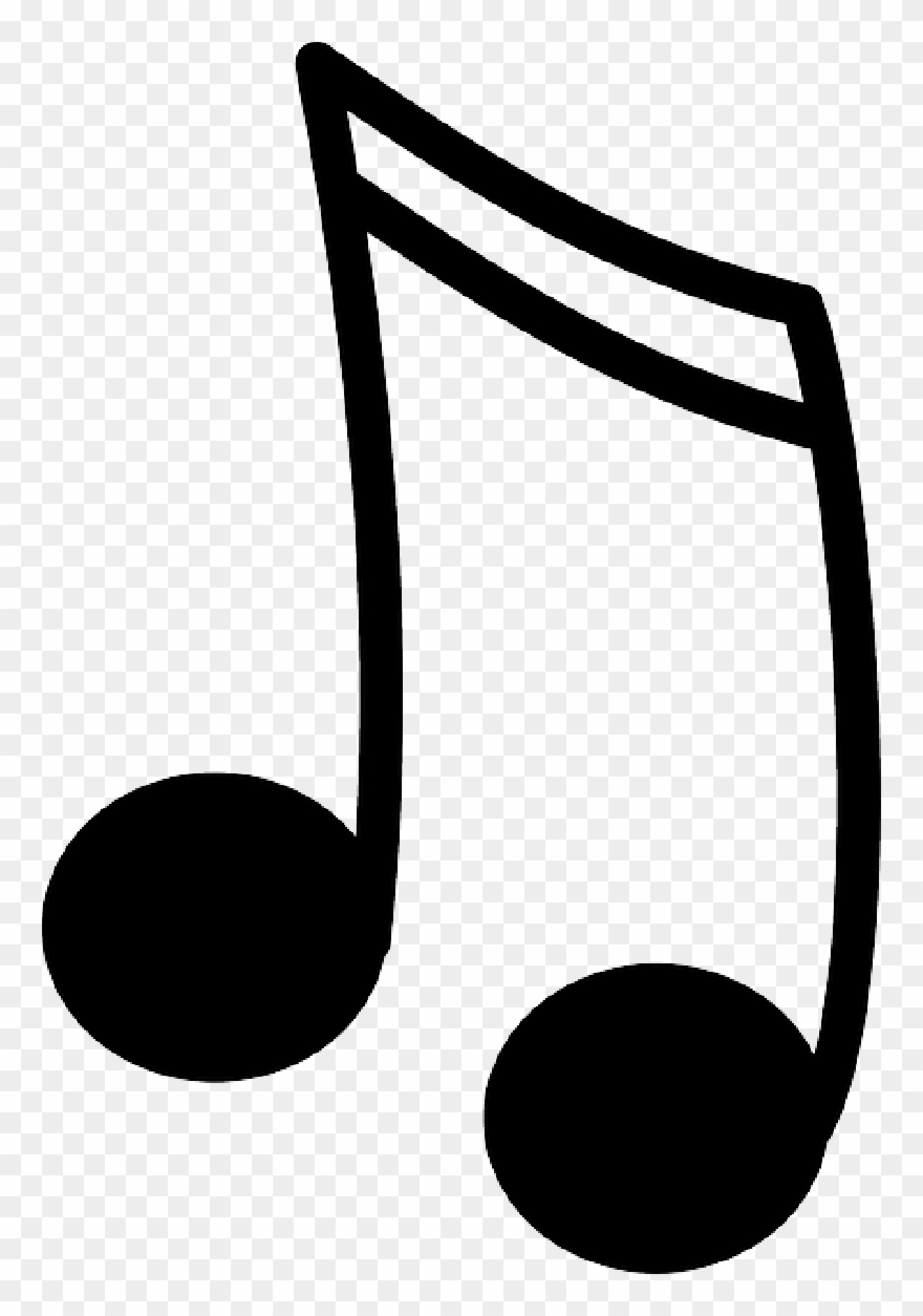 Black music notes clipart svg library library 15 Black Music Note Icon Image - Note Clipart - Png Download ... svg library library