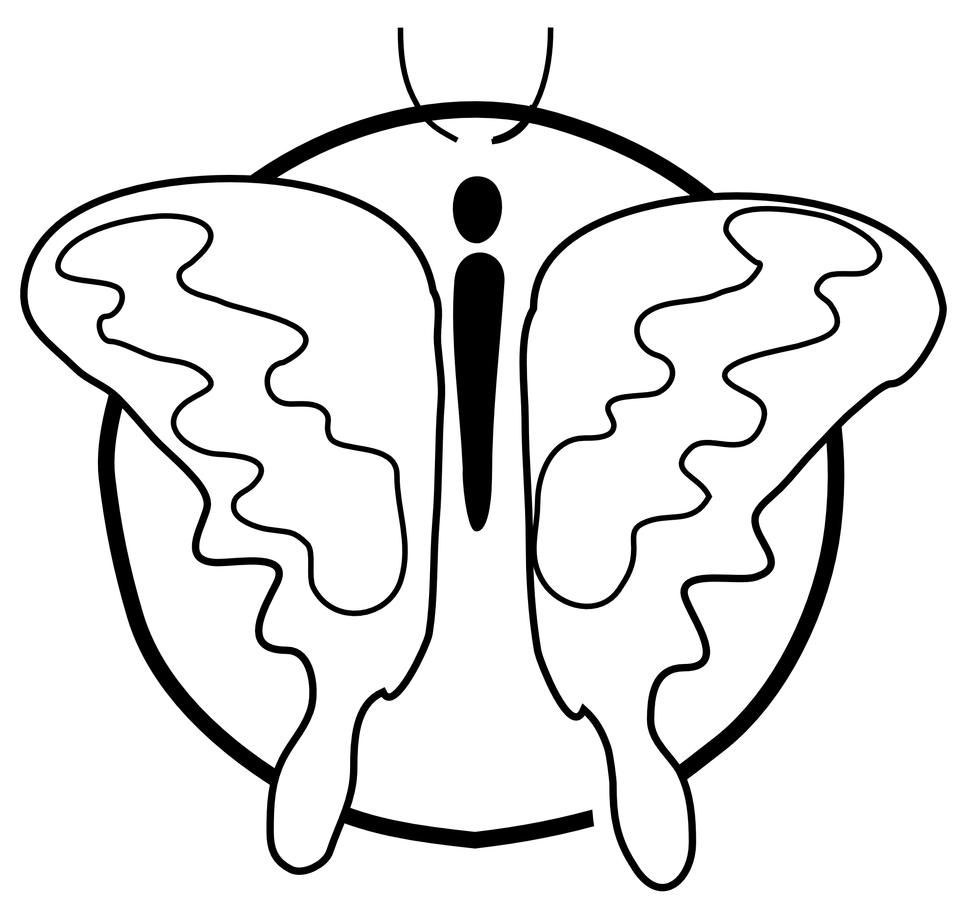Black n white thanksgiving clipart picture Butterfly Black And White Clipart | Free download best Butterfly ... picture