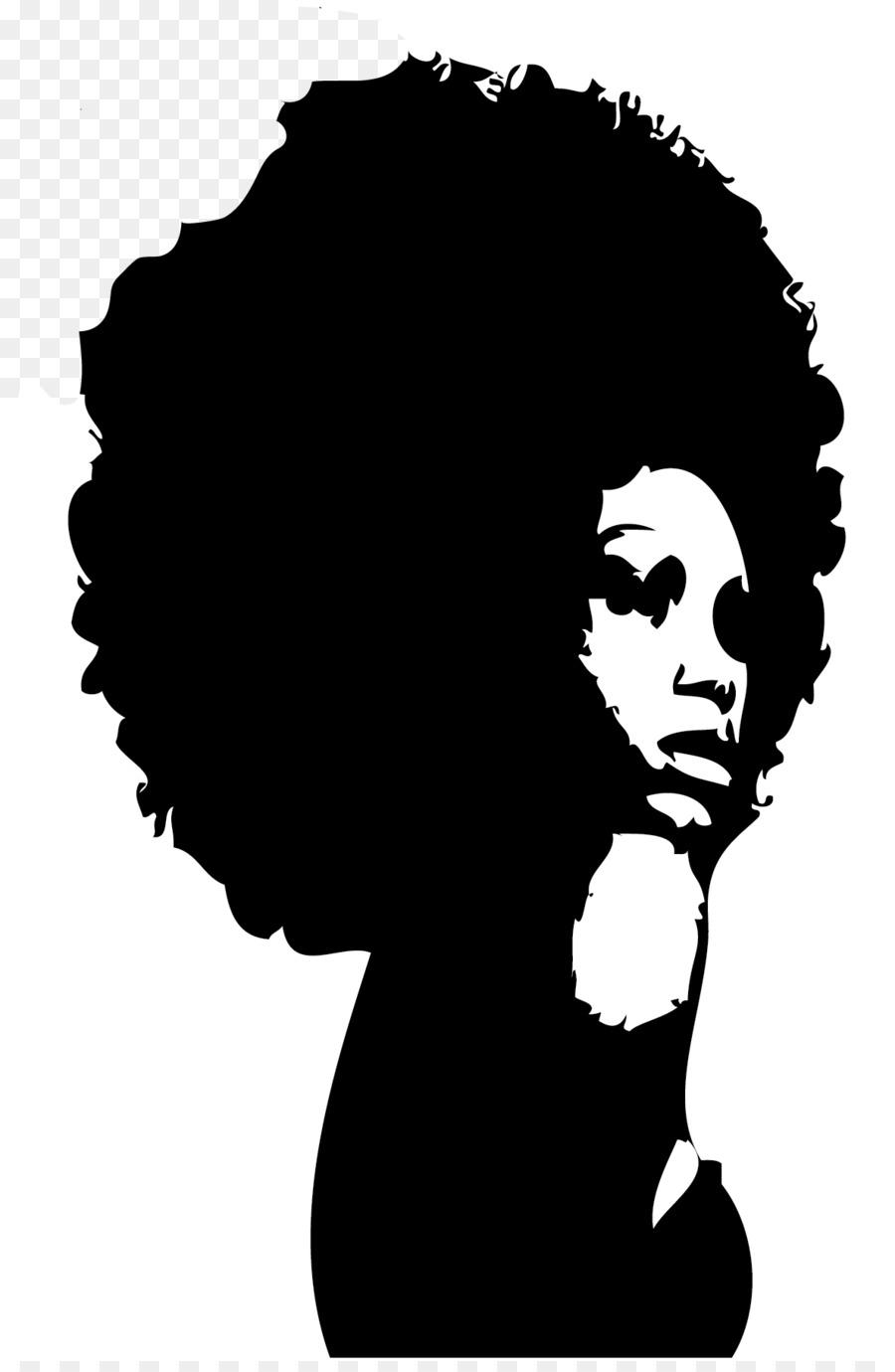 Black natural girl silhouette clipart image transparent download Natural Hair Png Black Woman Face Silhouette - Clip Art Library image transparent download
