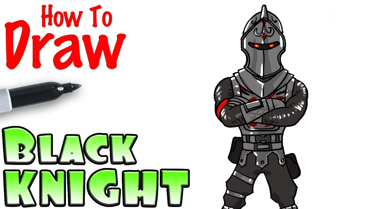 Black night clipart fortnite clipart library stock How to Draw the Black Knight | Fortnite clipart library stock