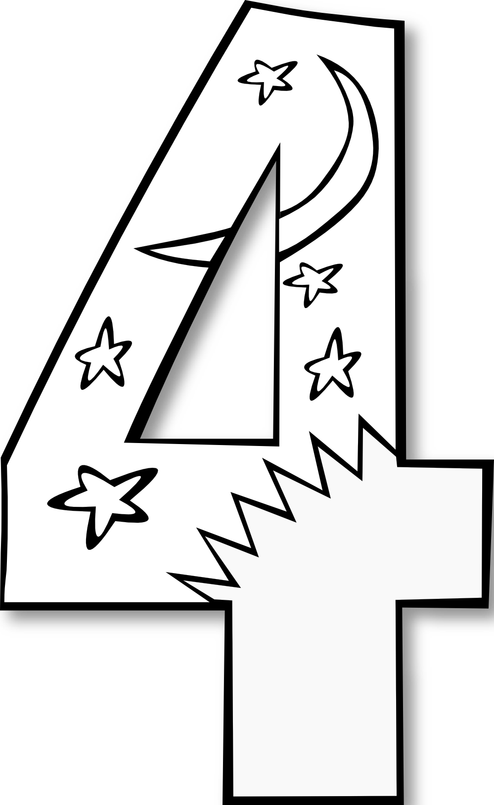 Black number 1 clipart clip free library 1 clipart black and white - ClipartFox clip free library