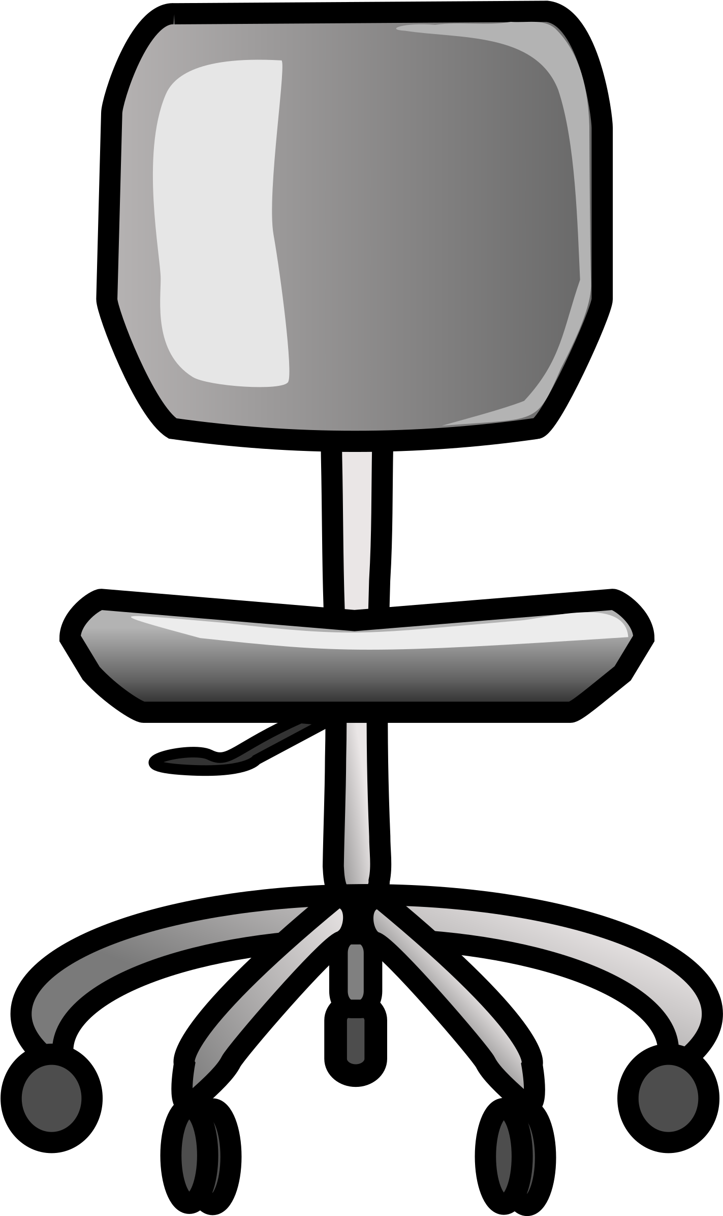 Black office chair clipart free Office-chair - Desk Chair Clipart - Png Download - Full Size Clipart ... free