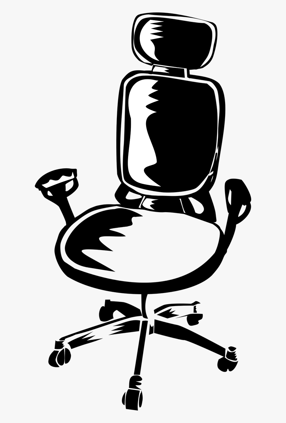 Black office chair clipart banner library Best Office Chair For Lower Back Pain - Office Chair Clip Art ... banner library
