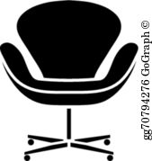 Black office chair clipart image freeuse Office Chair Clip Art - Royalty Free - GoGraph image freeuse