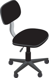 Black office chair clipart graphic royalty free stock Free Chair Clipart Image 0071-0908-1917-4016 | Furniture Clipart graphic royalty free stock