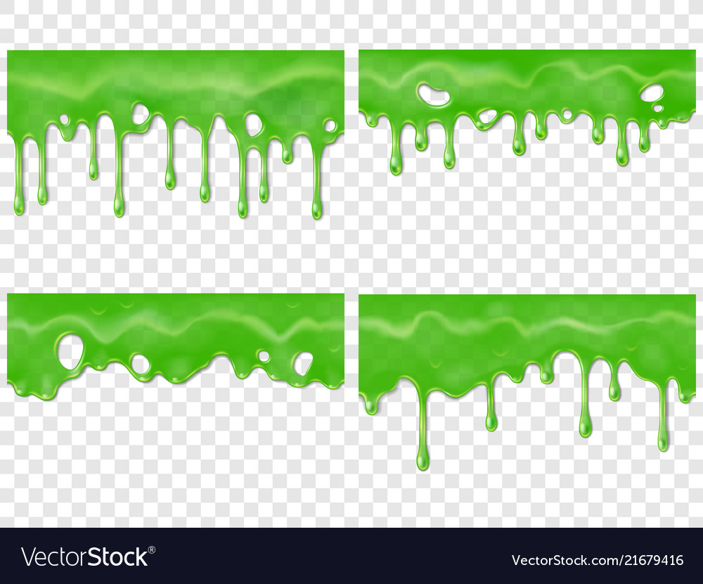 Black ooz border clipart vector library library Realistic dripping slime seamless green stain of vector image vector library library