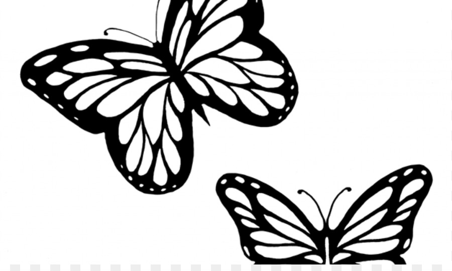 Black outline clipart of butterfly transparent Butterfly Black And White png download - 1024*600 - Free Transparent ... transparent