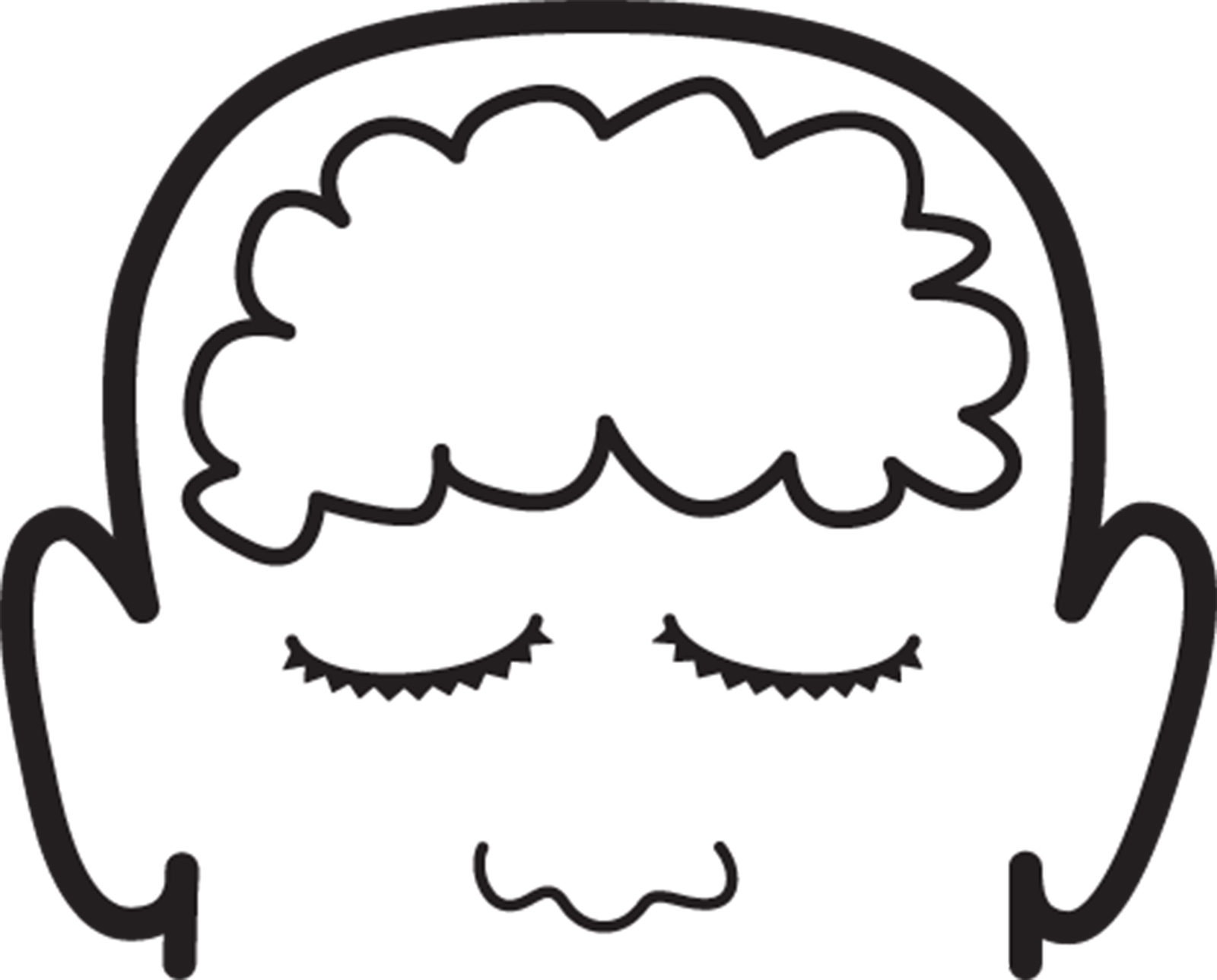 Black outline of figure with brain clipart clipart library download Human Brain Clipart   Free download best Human Brain Clipart on ... clipart library download