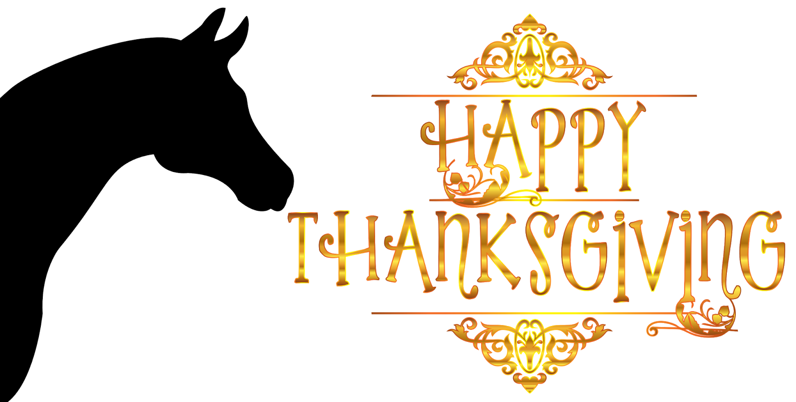 Black outline thanksgiving clipart picture royalty free download Thanksgiving clipart horse ~ Frames ~ Illustrations ~ HD images ... picture royalty free download