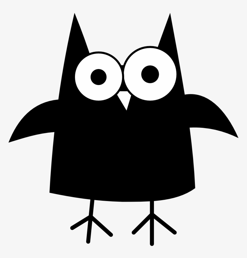 Black owl clipart vector royalty free Happy Halloween Owl Clipart - Black Owl Embroidery Design ... vector royalty free