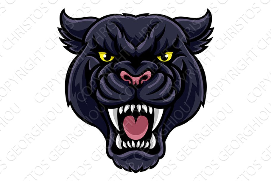 Black panther mascot clipart jpg royalty free Black Panther Mascot jpg royalty free