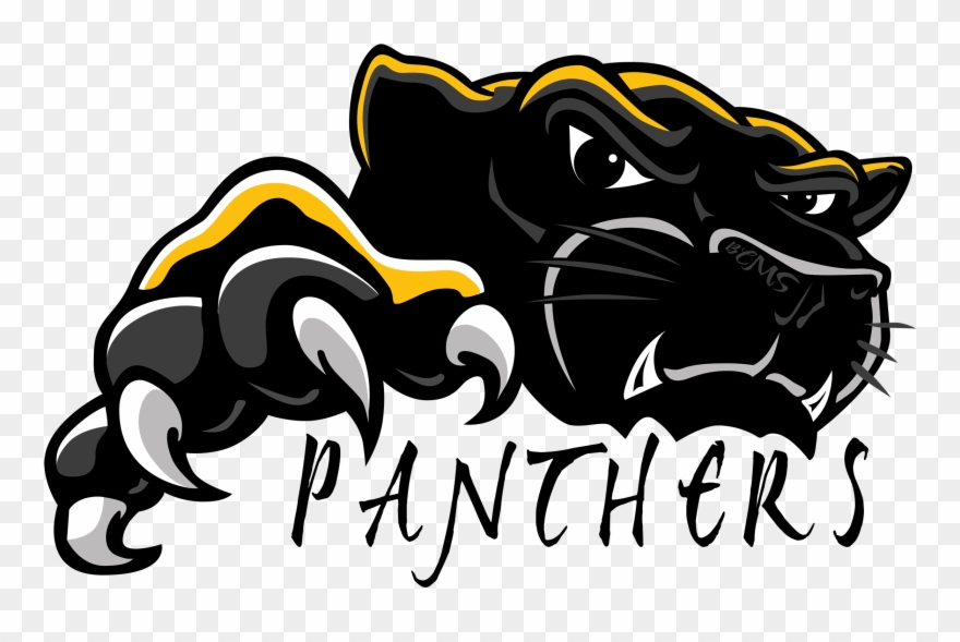 Black panther mascot clipart svg black and white stock Black Panther Clipart Mascot - Bell Creek Academy - Png Download ... svg black and white stock