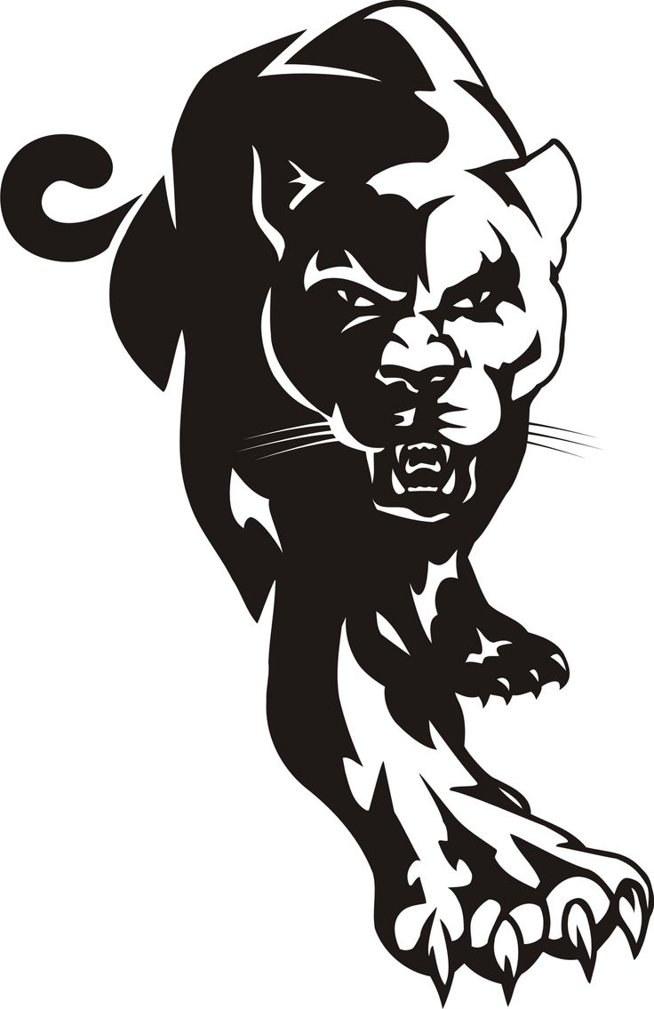Panther mascot clipart black and white royalty free stock Cougar black panther mascot clipart dromggo top image #29261 royalty free stock