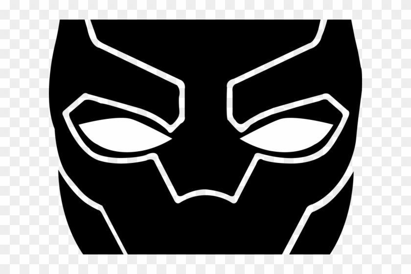 Black panther mask clipart clipart stock Black Panther Clipart Panther Logo - Black Panther Face Drawing, HD ... clipart stock