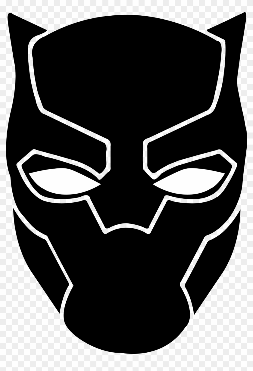 Black panther mask clipart jpg library library Avengers Clipart Black And White - Black Panther Face Drawing, HD ... jpg library library