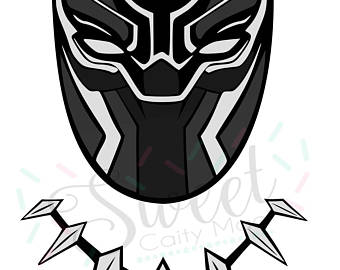 Black panther mask clipart
