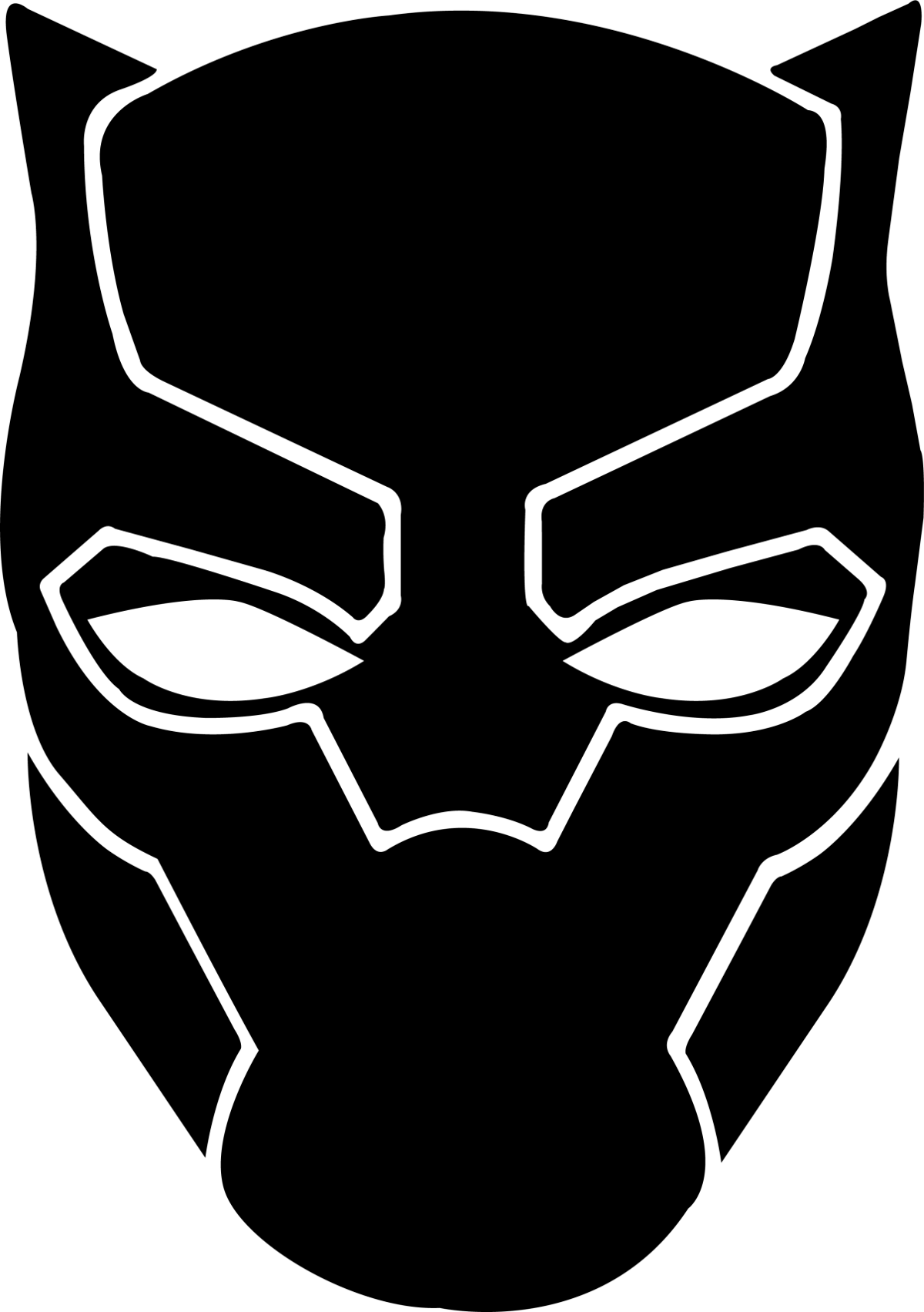 Black panther minimalist clipart picture royalty free Black panther logo clipart images gallery for free download | MyReal ... picture royalty free