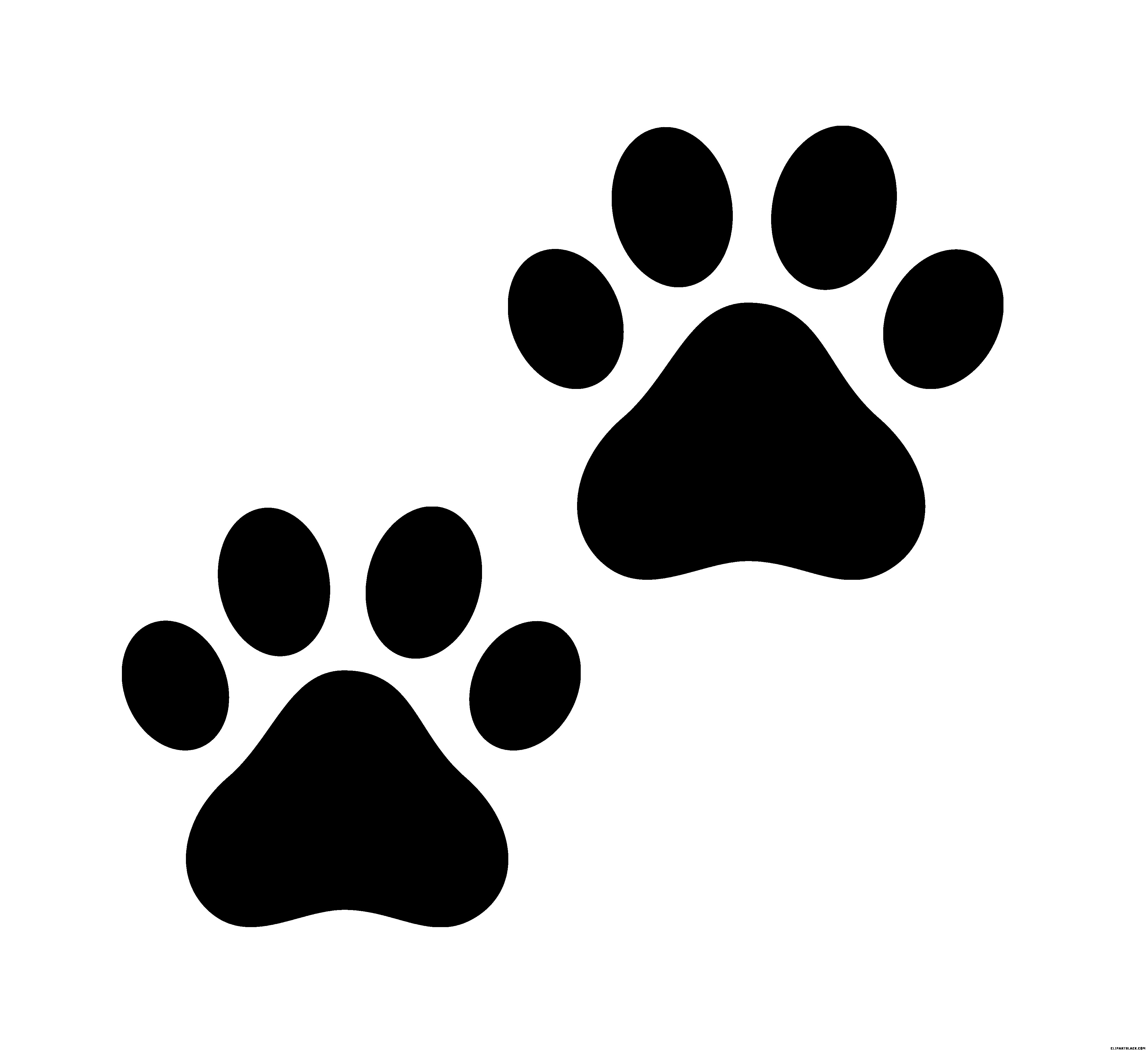White dog paw print clipart vector black and white download In Cat Paw Print Clipart Black And White Dog 11 | Clip Art vector black and white download