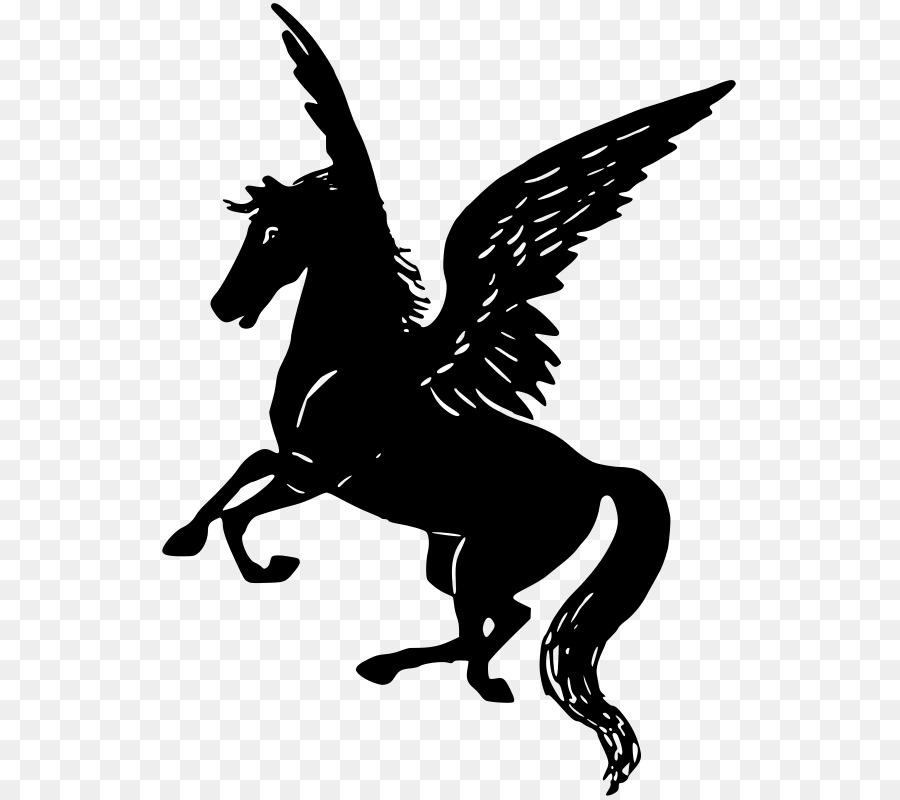 Black pegasus clipart clipart transparent download Unicorn Clipart clipart - Horse, Wing, Silhouette, transparent clip art clipart transparent download