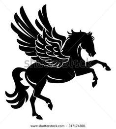 Black pegasus clipart image free library Black Pegasus Clipart & Free Clip Art Images #20181 - Clipartimage.com image free library