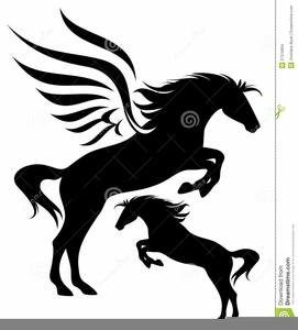 Black pegasus clipart stock Black Pegasus Clipart | Free Images at Clker.com - vector clip art ... stock