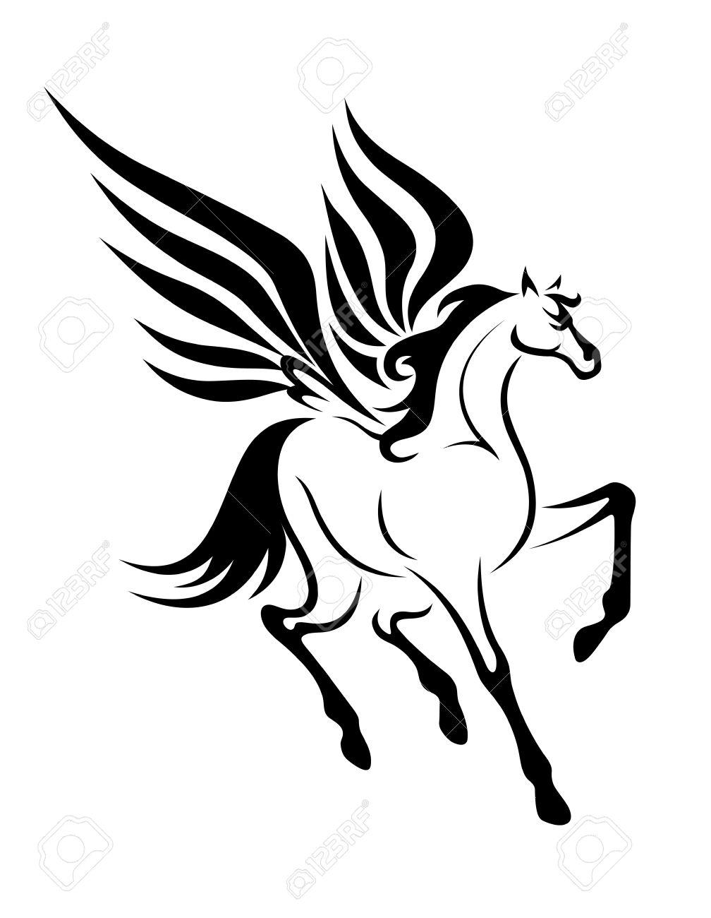 Black pegasus clipart graphic free download Pegasus Clipart Free | Free download best Pegasus Clipart Free on ... graphic free download