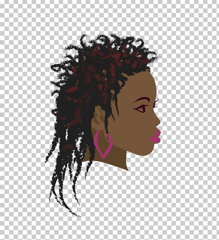 Black person with black braids hair clipart clip black and white stock Africa Braid Woman Black PNG, Clipart, Africa, African American ... clip black and white stock