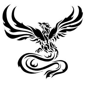 Black phoenix clipart svg library library Black Phoenix Cliparts - Making-The-Web.com svg library library