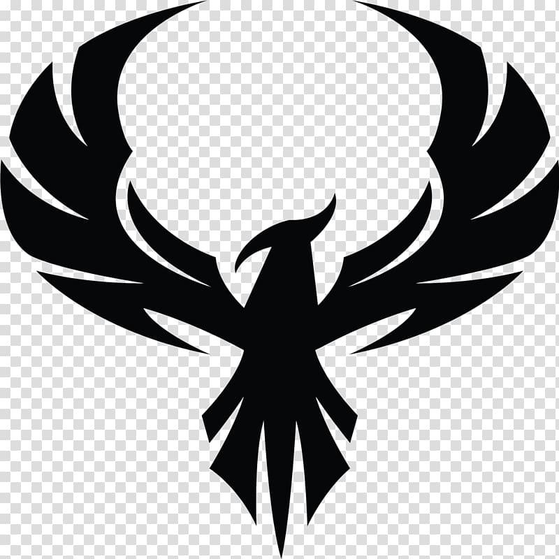 Black phoenix clipart jpg royalty free download Black bird illustration, Phoenix Decal Symbol Sticker , Phoenix ... jpg royalty free download