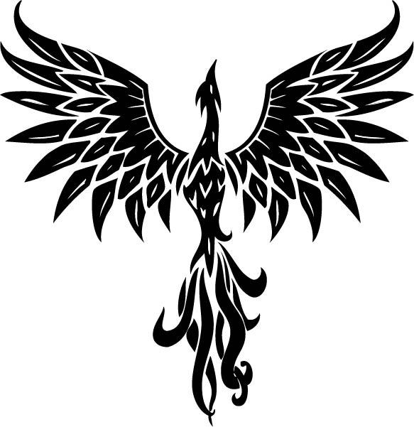Black phoenix clipart image free download Phoenix Tattoo Designs - Clip Art Library image free download