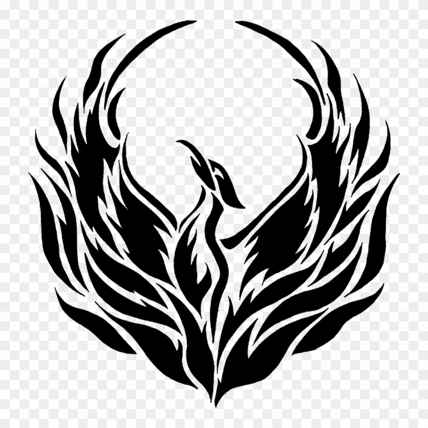 Black phoenix clipart freeuse library Phoenix Black And White Png Vector Free Library - Northview Heights ... freeuse library