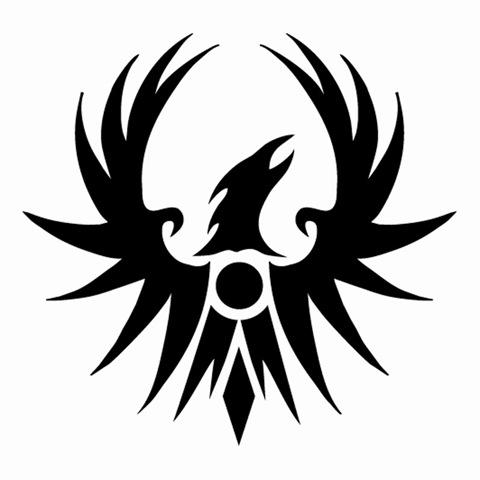 Black phoenix clipart clip black and white stock Phoenix clipart black and white - Clip Art Library clip black and white stock