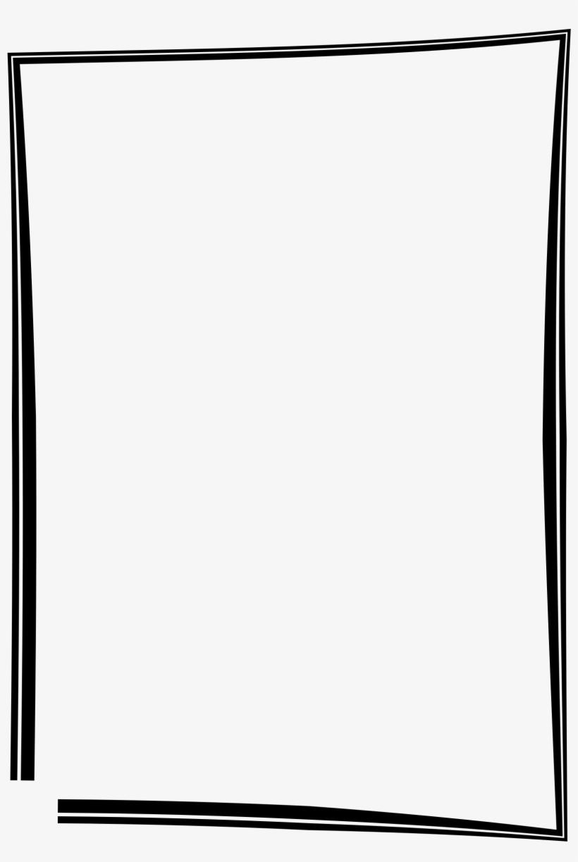 Photo frame border design clipart picture library download Simple Frame Border Design - Black Picture Frame Clipart Transparent ... picture library download