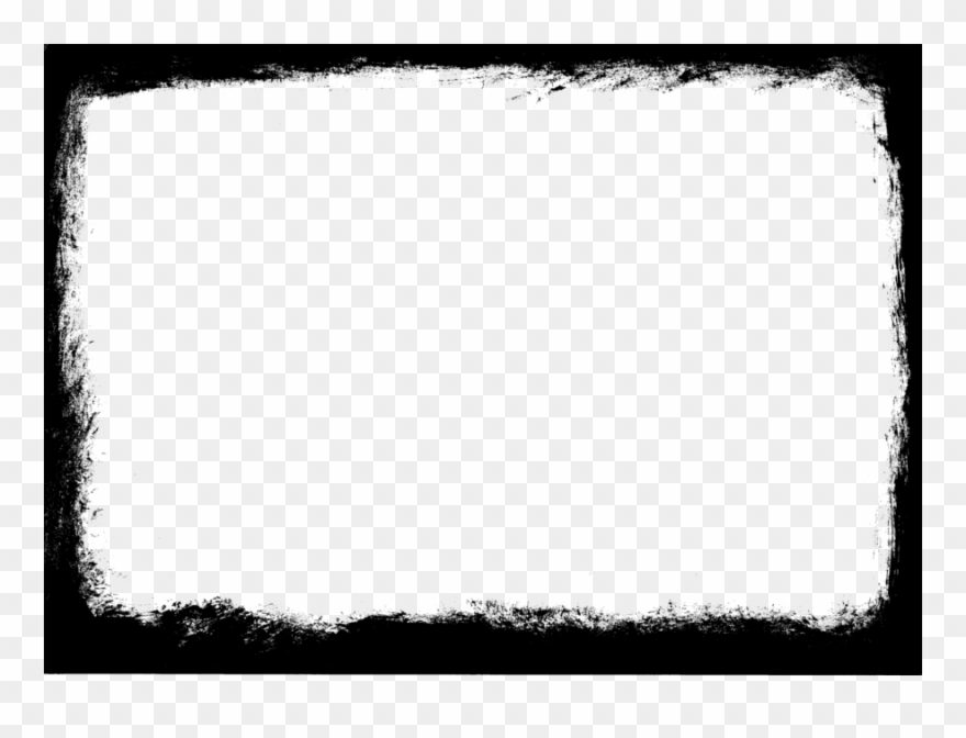 Black photo frame clipart graphic free Grunge Clipart Picture Frames Grunge Black And White - Transparent ... graphic free