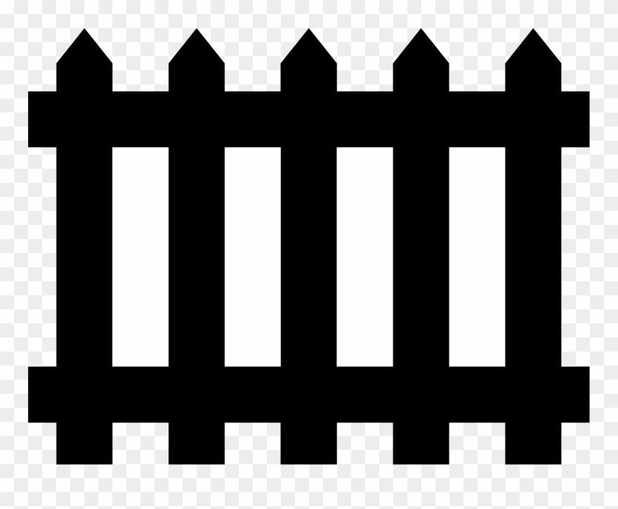 Black picket fence clipart picture free stock Picket Fence Gate Chain-link Fencing - Black Fence Clipart - Png ... picture free stock
