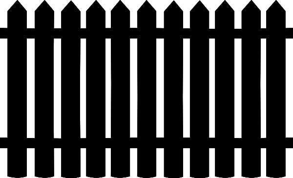 Black picket fence clipart png freeuse download Free Garden Fence Clipart, 1 page of Public Domain Clip Art png freeuse download