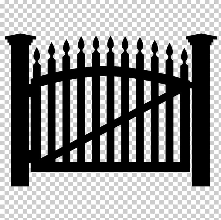 Black picket fence clipart clip free stock Picket Fence Gate PNG, Clipart, Black And White, Fence, Fotolia ... clip free stock