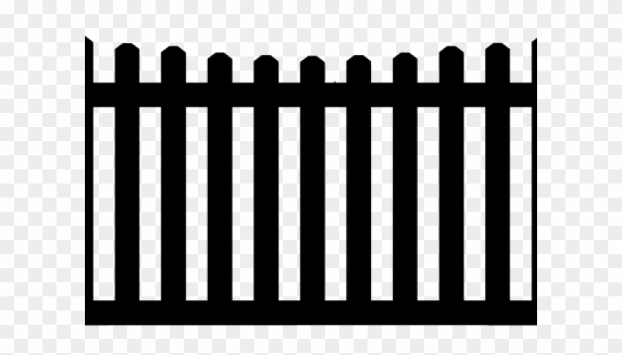 Black picket fence clipart png stock Fence Clipart Vintage - Picket Fence - Png Download (#3263437 ... png stock
