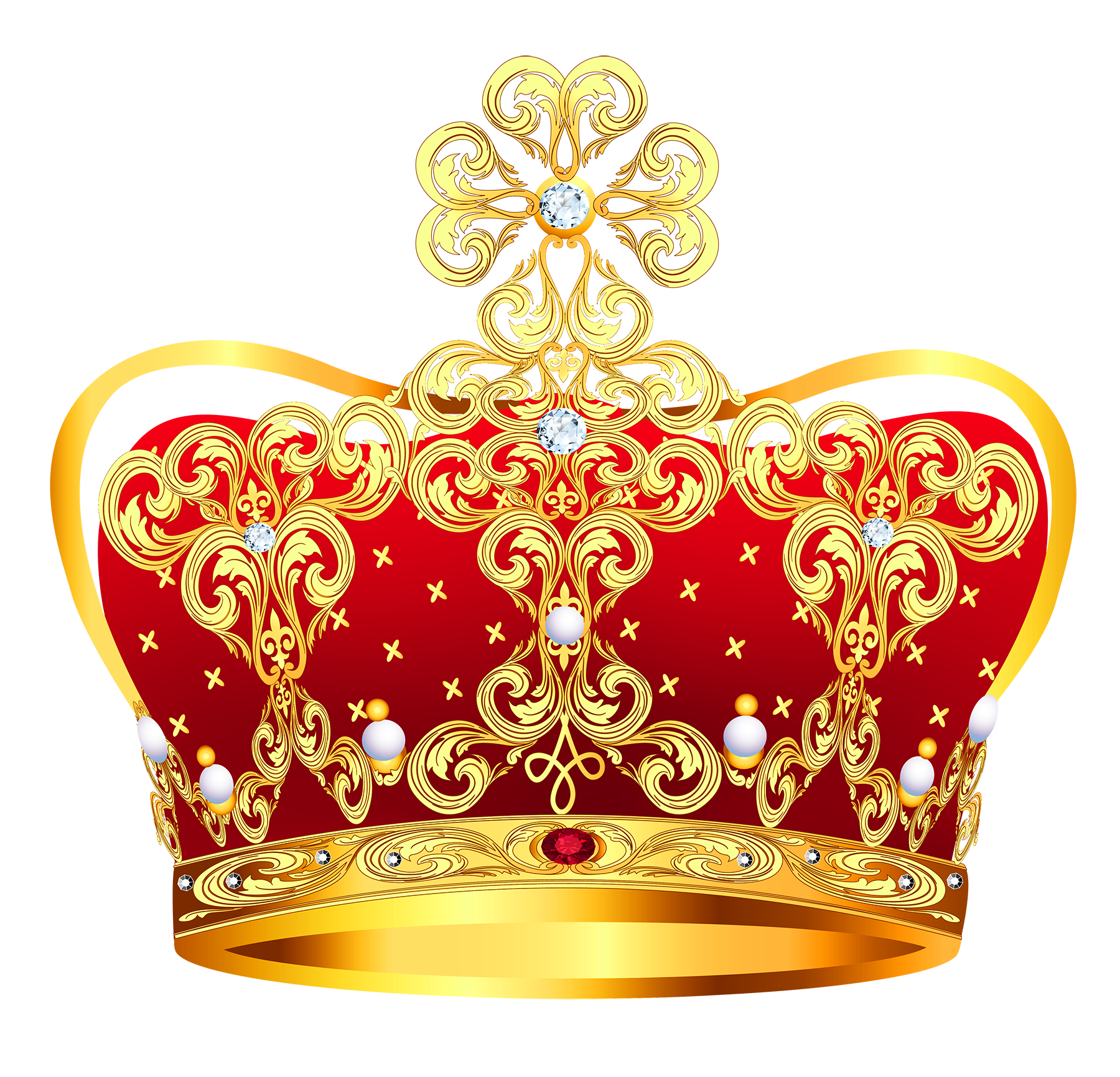 Crown clipart with green gem picture black and white download Coroa-Dourada-10.png (1800×1731) | festa | Pinterest | Corona picture black and white download
