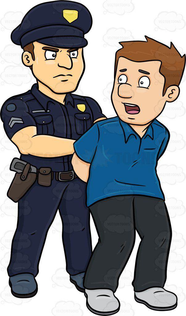Black police officer clipart clipart freeuse stock Arrest Clip Art | A Policeman Arresting A Man Vector Clip Art ... clipart freeuse stock