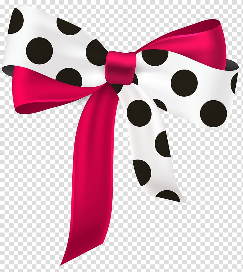 Black polka dot bow clipart jpg black and white download White, red, and black polka-dot bow illustration, Ribbon Paper ... jpg black and white download