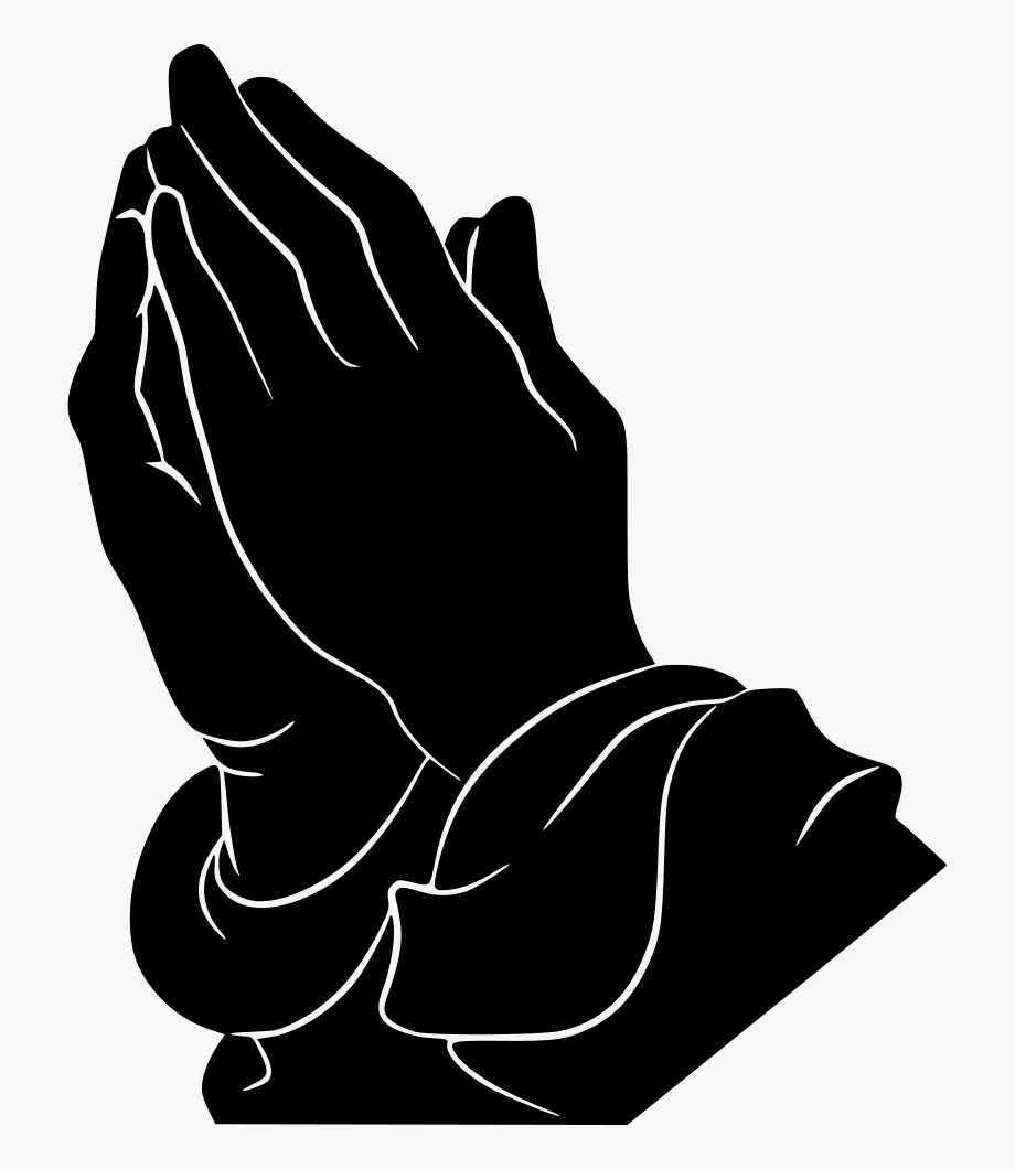 Black praying hands clipart clip art transparent library Download Free Png Black And White Praying Hands Clipart - Praying ... clip art transparent library