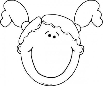 Black preschool girl face clipart svg library library Girl Face clip art | Preschool | Girl face, Girl cartoon, Girl face ... svg library library