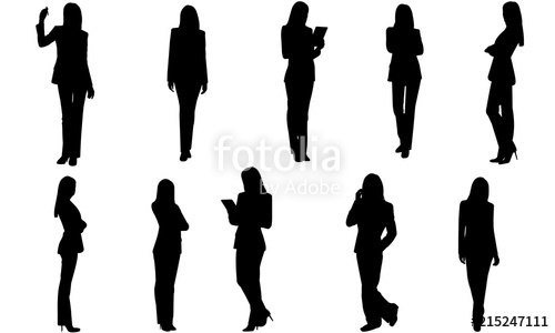 Black professional people clipart clip art download Business Woman Silhouette | Corporate Female in Suit Vector ... clip art download
