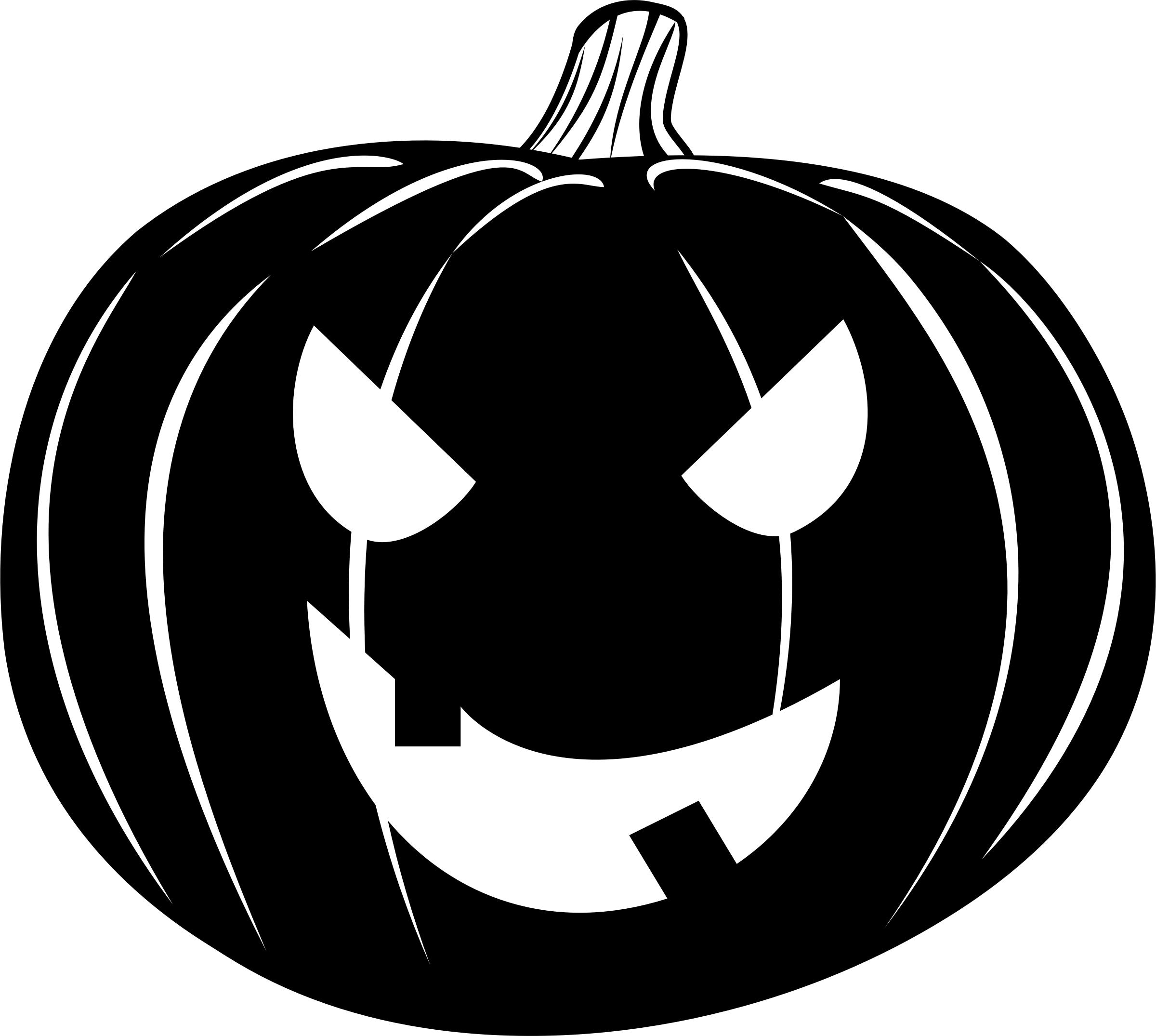 Clipart - Jack-o'-lantern black png