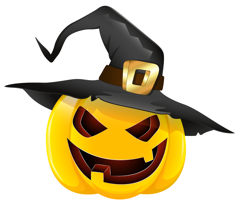 Halloween pumpkin clipart png black and white download Halloween Pumpkin Png Black Hat Clipart 29 black and white download