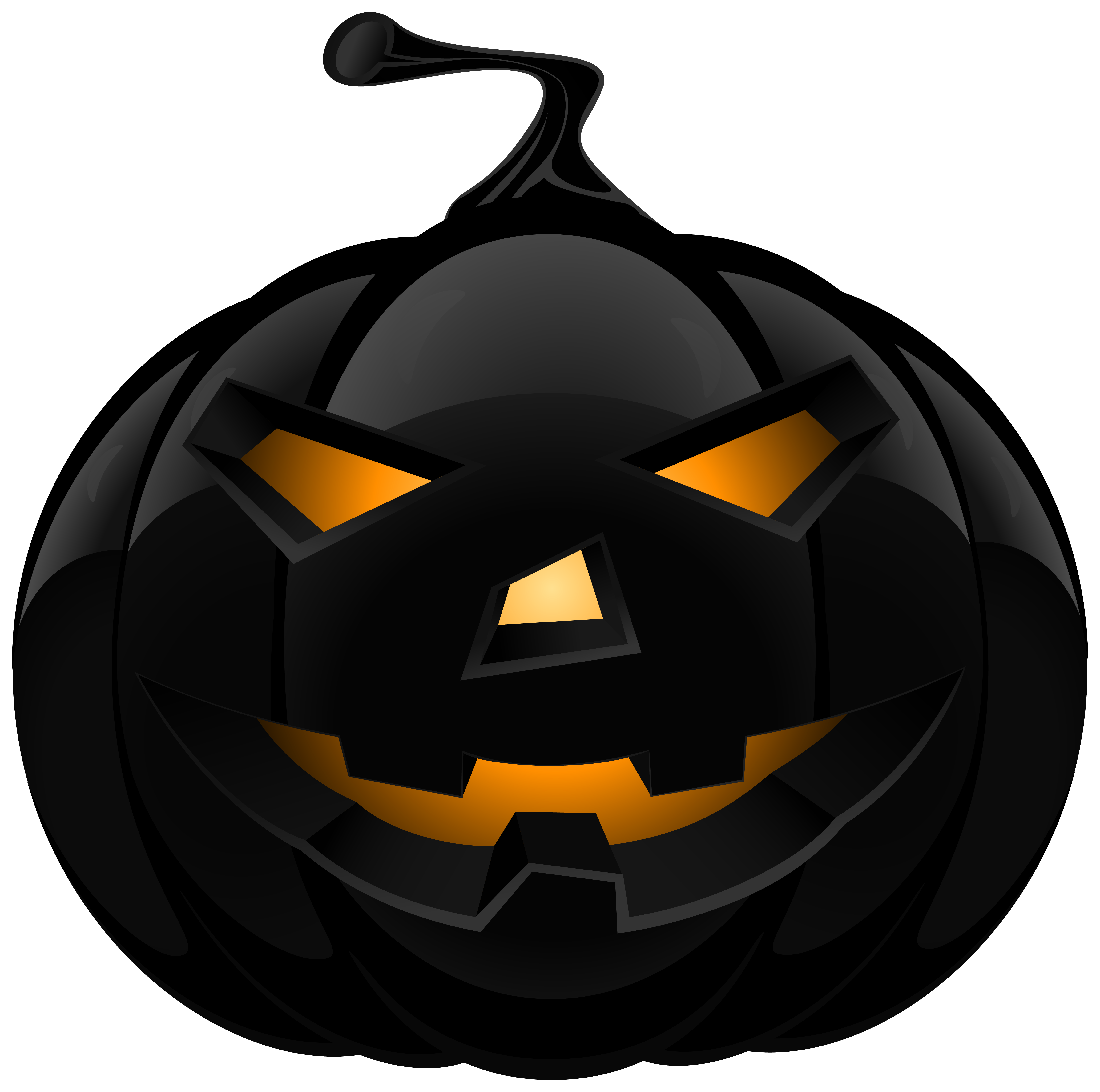 Black Pumpkin Lantern PNG Clipart Image | Gallery Yopriceville ... clipart library library